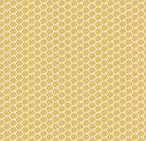 Yellow honeycomb hexagons vector seamless pattern Royalty Free Stock Photo
