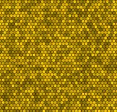 Yellow honeycomb vector background. Royalty Free Stock Images
