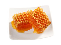 Yellow honeycomb wax Royalty Free Stock Images