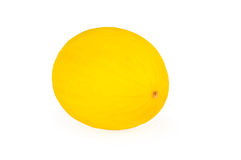 Yellow honeydew melon, on white background. Yellow honeydew melon, on a white background Royalty Free Stock Photo