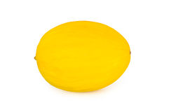 Yellow honeydew melon, on white background Royalty Free Stock Images
