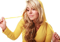 Yellow hoody Stock Images