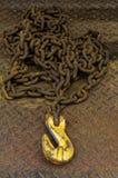 Yellow hook Royalty Free Stock Image