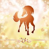 Yellow horse the symbol of new year Stock Photos