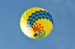 Yellow Hot Air Balloon Stock Photo