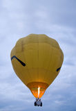 Yellow hot air balloon Royalty Free Stock Images