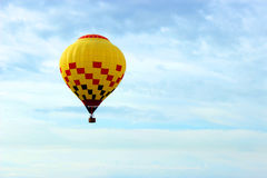 Yellow hot air balloon Royalty Free Stock Image