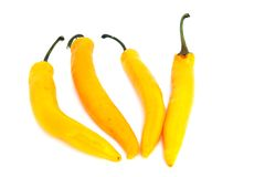 Yellow hot pepper Royalty Free Stock Photo
