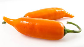 Yellow Hot Peppers Whole Royalty Free Stock Photography