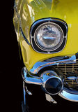 Yellow Hot Rod. A vintage yellow car Royalty Free Stock Image