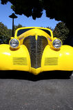 Yellow Hot Rod. Bright Yellow Custum Hot Rod stock photo