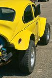 Yellow hot rod car Stock Photo
