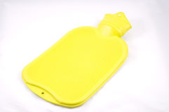 Yellow hot water bag Royalty Free Stock Images