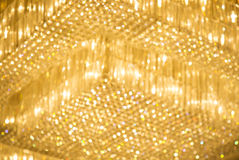 Yellow Hotel lights on the ceiling Stock Image
