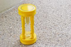 Yellow hourglass Royalty Free Stock Photography