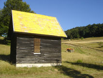 Yellow house. In west Serbia on the mountain Povlen stock photos