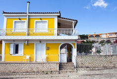 Yellow house Royalty Free Stock Photos