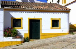 Yellow house. House of Portugal, Terena village in alentejo region Stock Photo
