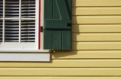 The yellow house stock image