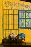 Yellow house Stock Image