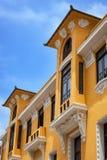 Yellow house with balcony Royalty Free Stock Photo