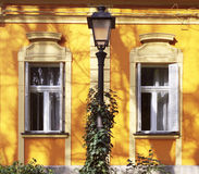 Yellow house facades Royalty Free Stock Photography