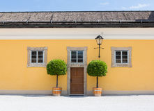 Yellow House Front Royalty Free Stock Image