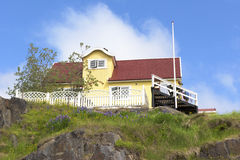 Yellow house, Greenland Stock Photography