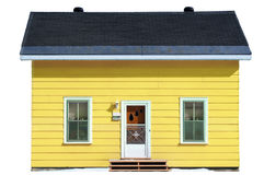 Yellow house - isolated Stock Photography