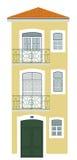 Yellow house Lisbon Royalty Free Stock Image