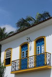 Yellow House  in Paraty, Brazil Royalty Free Stock Photo