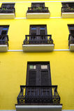 Yellow house in Puerto Rico Royalty Free Stock Photo
