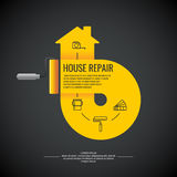 Yellow house repair. Royalty Free Stock Images