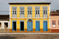 Yellow House in Sao Luis do Paraitinga Stock Image