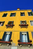 Yellow house Venice Royalty Free Stock Photo