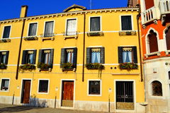 Yellow house Venice Royalty Free Stock Image
