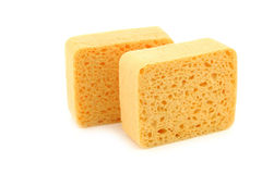 Yellow household sponges Royalty Free Stock Image