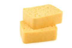 Yellow household sponges Royalty Free Stock Photography