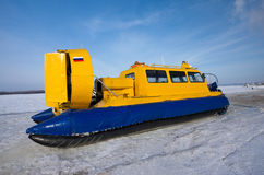 Yellow Hovercraft Royalty Free Stock Photo