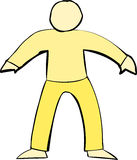 Yellow Human Body Shape Royalty Free Stock Images
