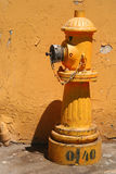 Yellow hydrant Stock Images