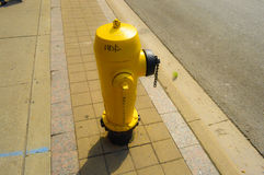 Yellow hydrant Toronto downtown Royalty Free Stock Photography