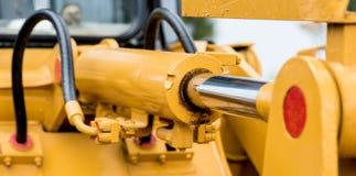 Yellow hydraulic pipe Royalty Free Stock Photo