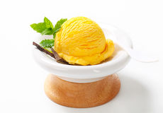 Yellow ice cream Royalty Free Stock Image