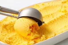 Yellow ice cream Stock Image