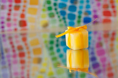 Yellow Ice cube Royalty Free Stock Images