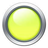 Yellow icon. Yellow blank icon with metal border isolated on white stock illustration