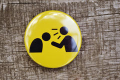 Yellow icon with the black little man cry Royalty Free Stock Photos