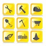 Yellow icons stock illustration