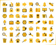 Yellow icons Stock Photography